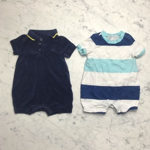 Baby Gap Terry Cloth Striped Boys Onesie Bundle